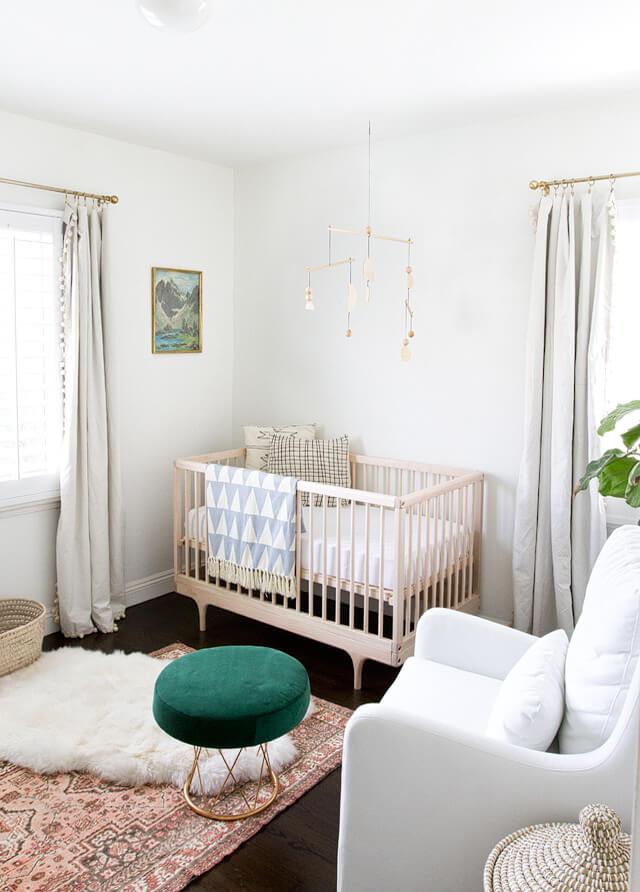 modern boho nursery design