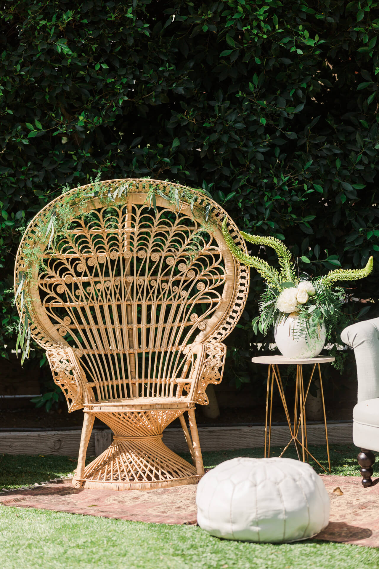 cool rattan peacock chair