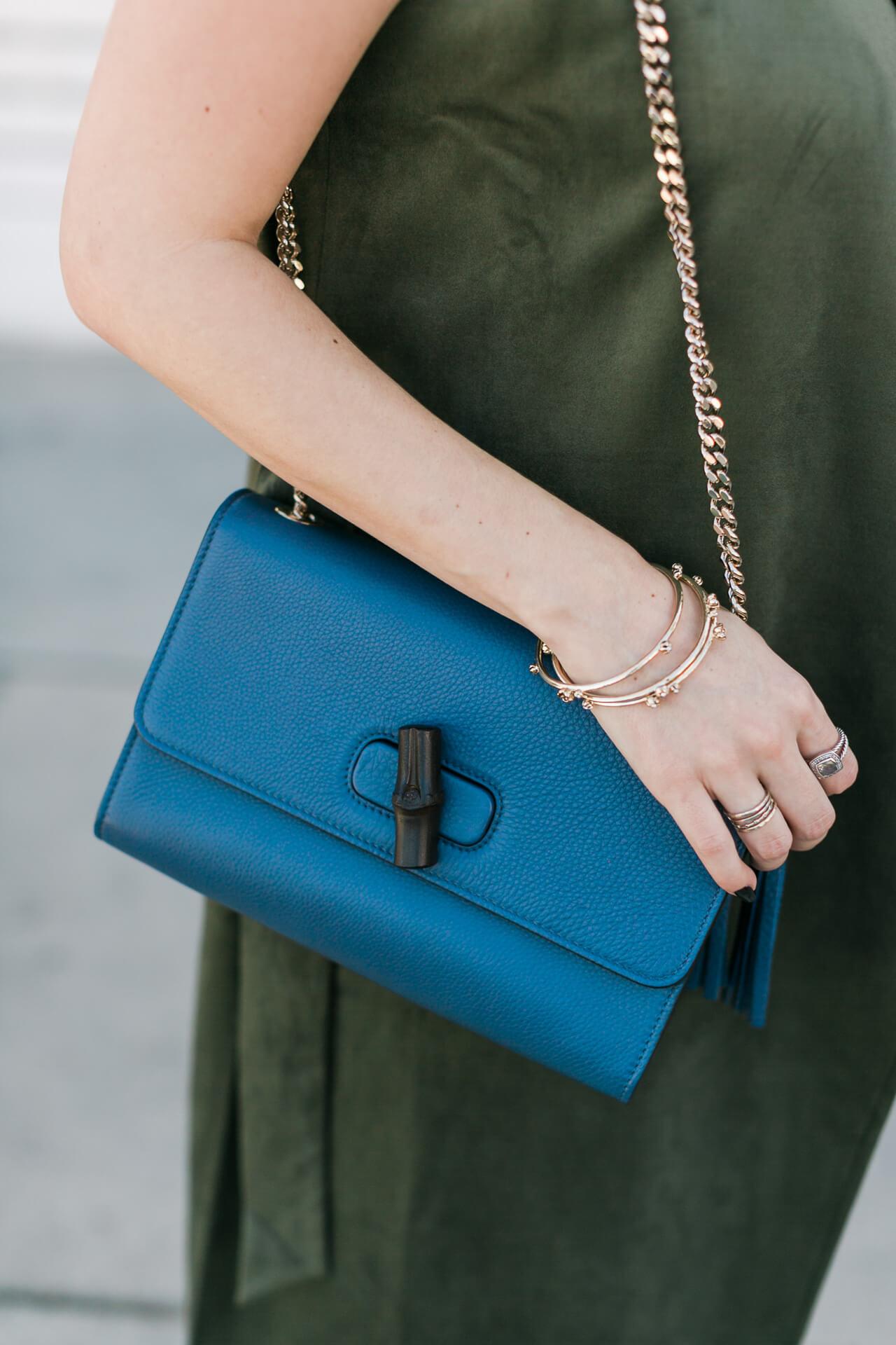 blue gucci shoulder bag