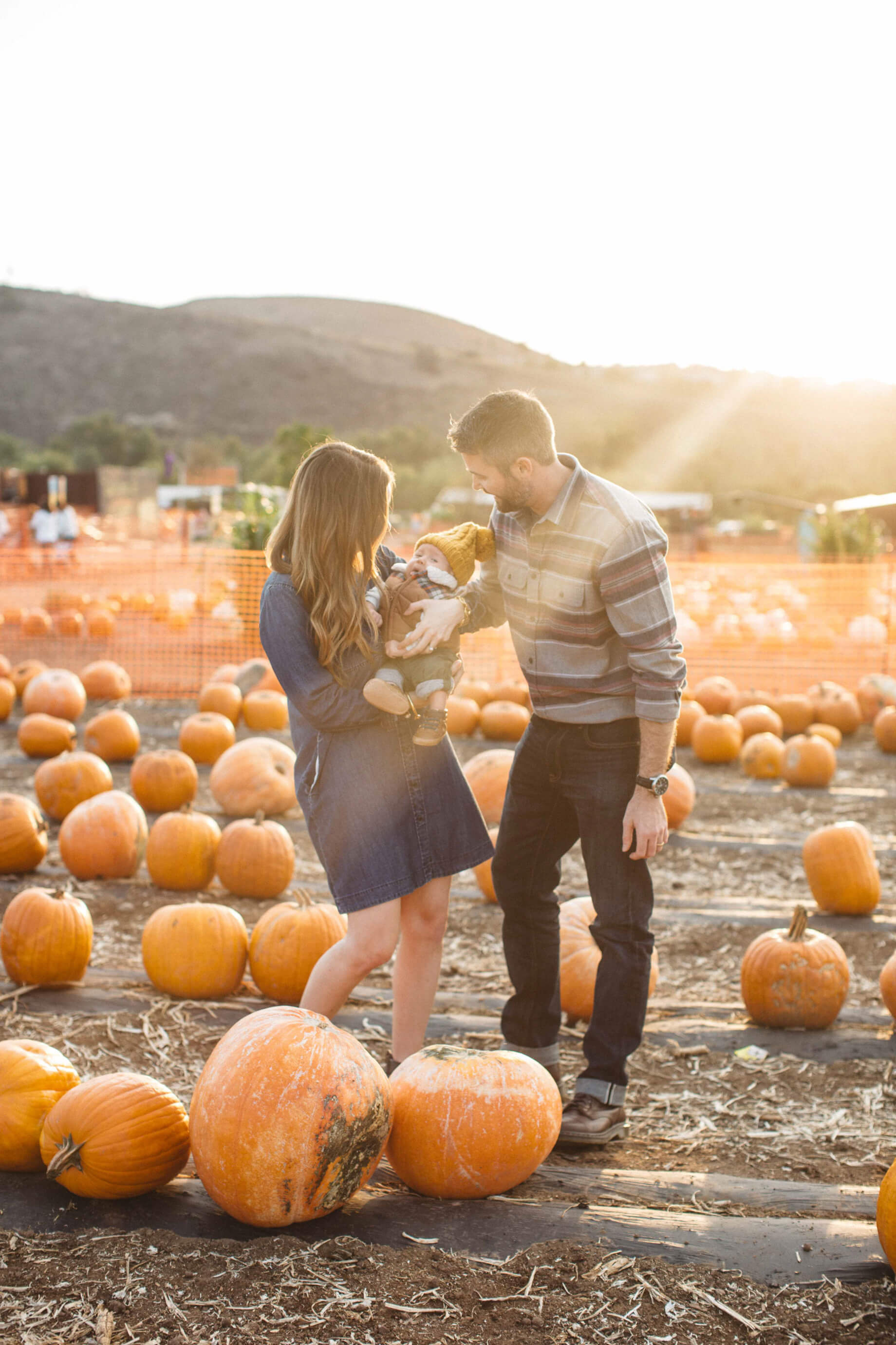 family shoot at pumpkin patch