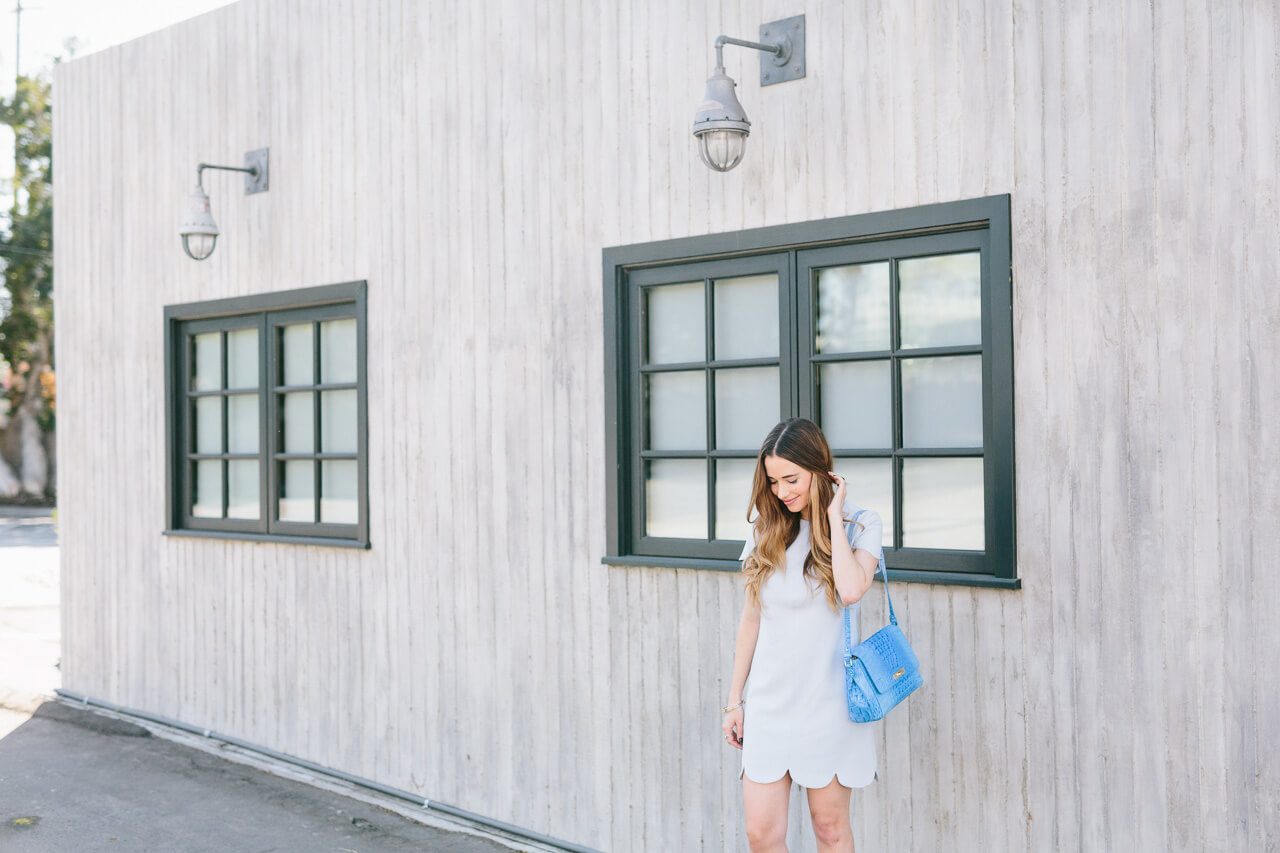 light blue feminine outfit
