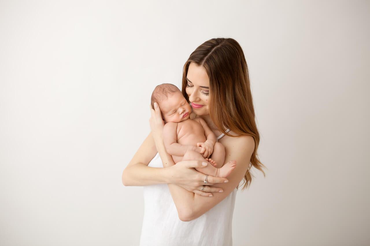 mara and baby augustine newborn photos