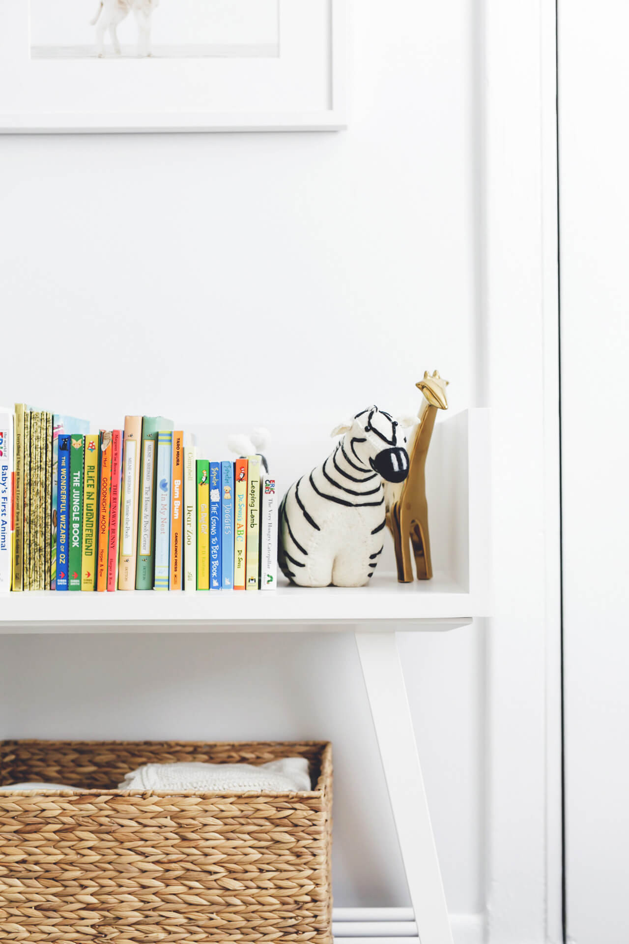 bookshelf in nursery