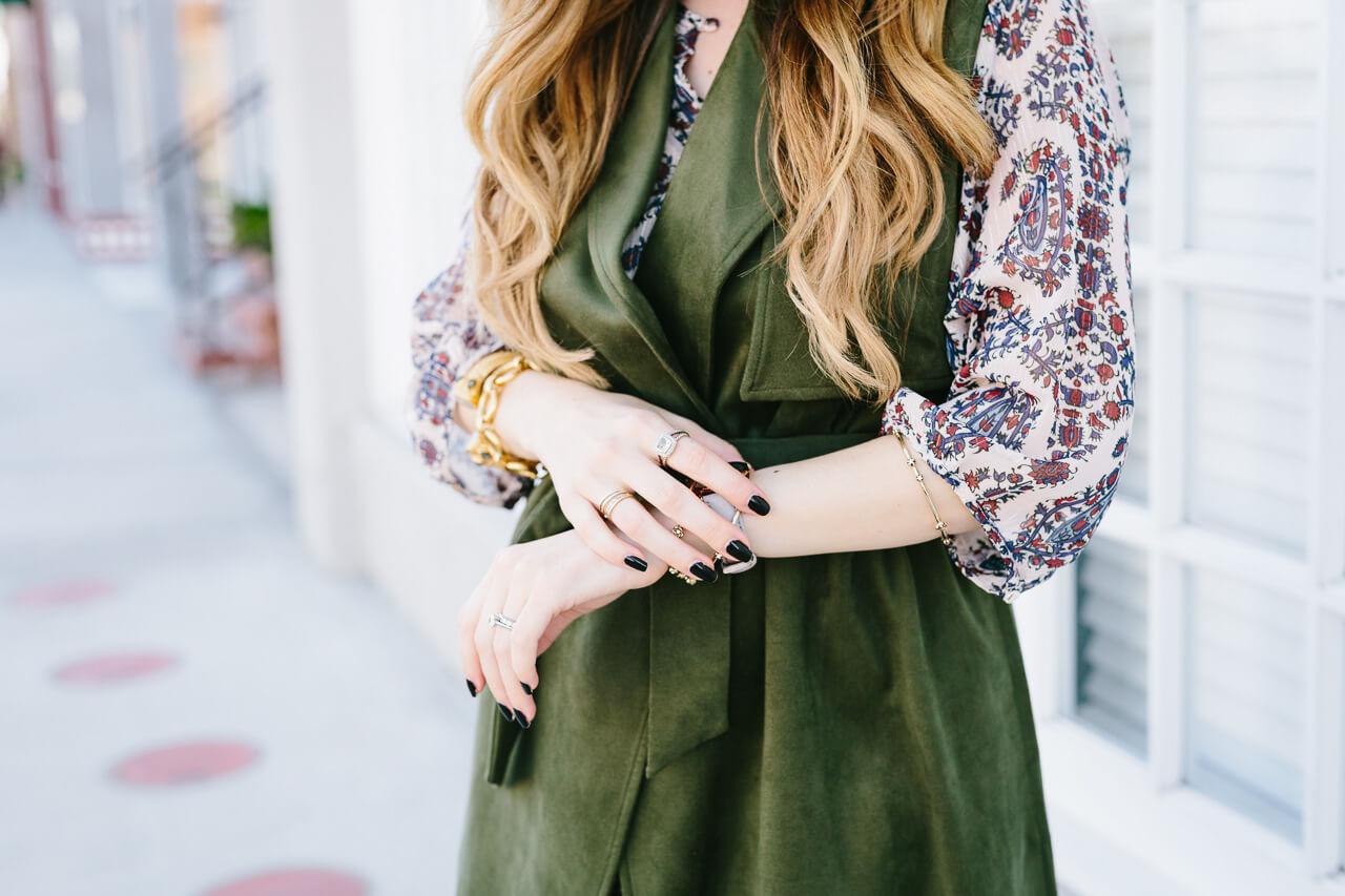 printed fall dress