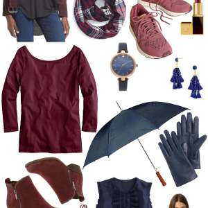 navy and burgundy, one of the best fall color combos