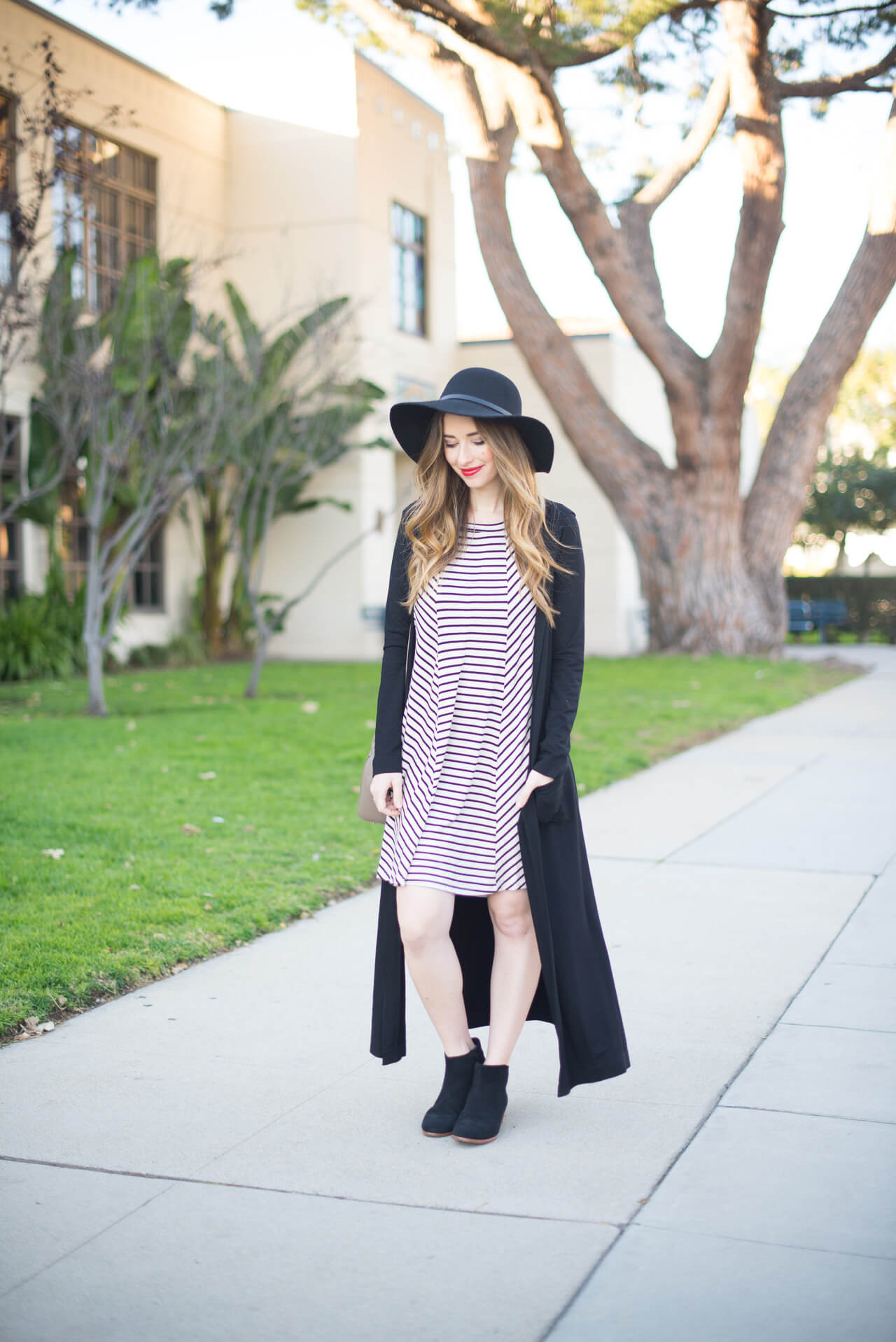 sharing one of my style challenges with this striped dress outfit