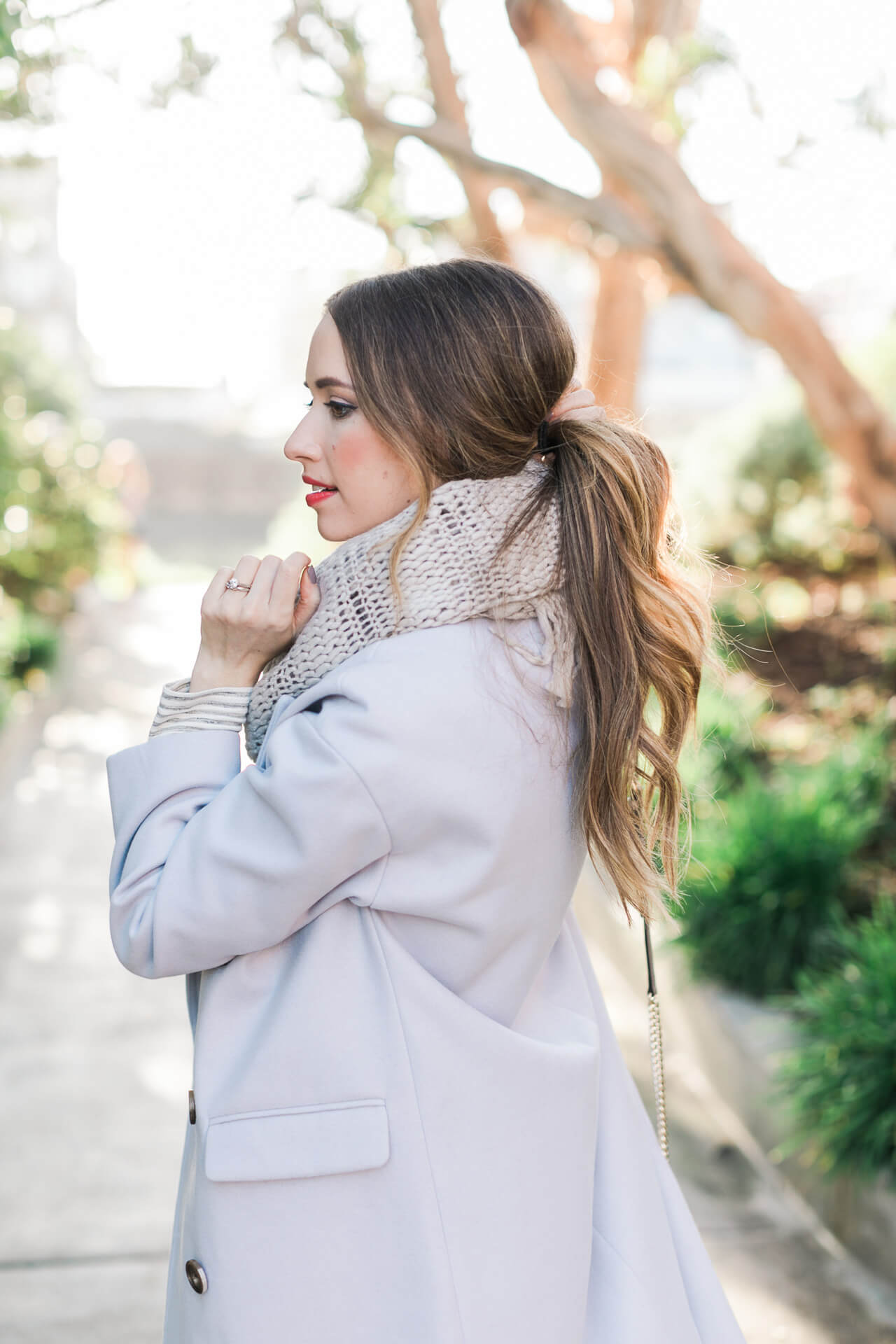 Messy Low Ponytail - hair inspiration