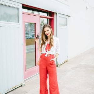 fun way to style a jumpsuit
