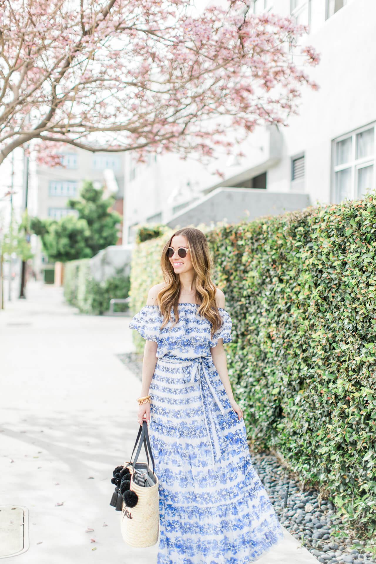 a pretty spring maxi dress