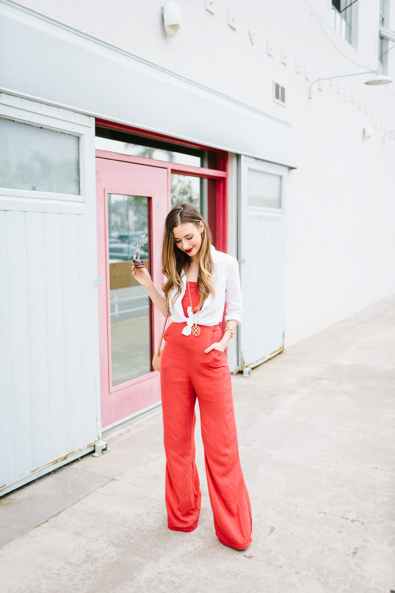a jumpsuit styling idea - add a button up on top!