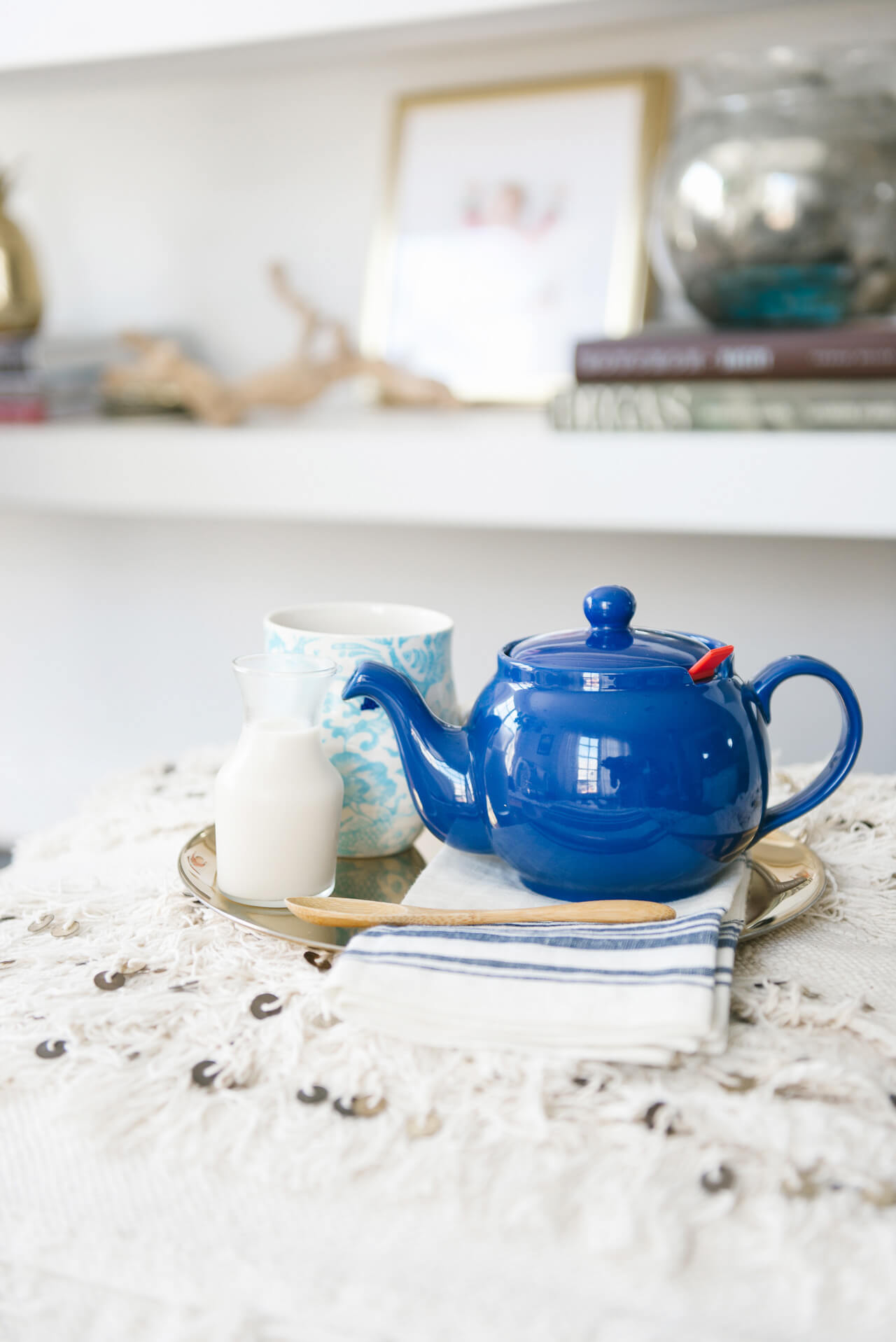 a wellness challenge: swap coffee for tea in the mornings
