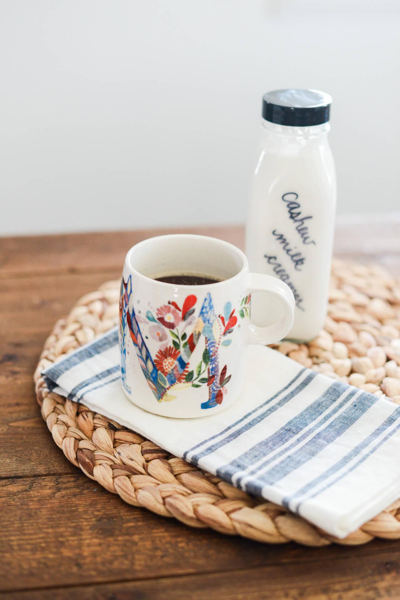 make your own cashew milk coffee creamer
