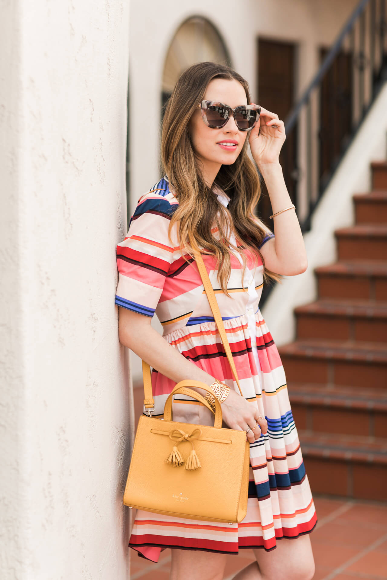 colorful striped dress with kate spade hayes street small isobel