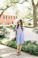striped dress from kate spade with brown sandal heels - My Perfect Day M Loves M @Marmar