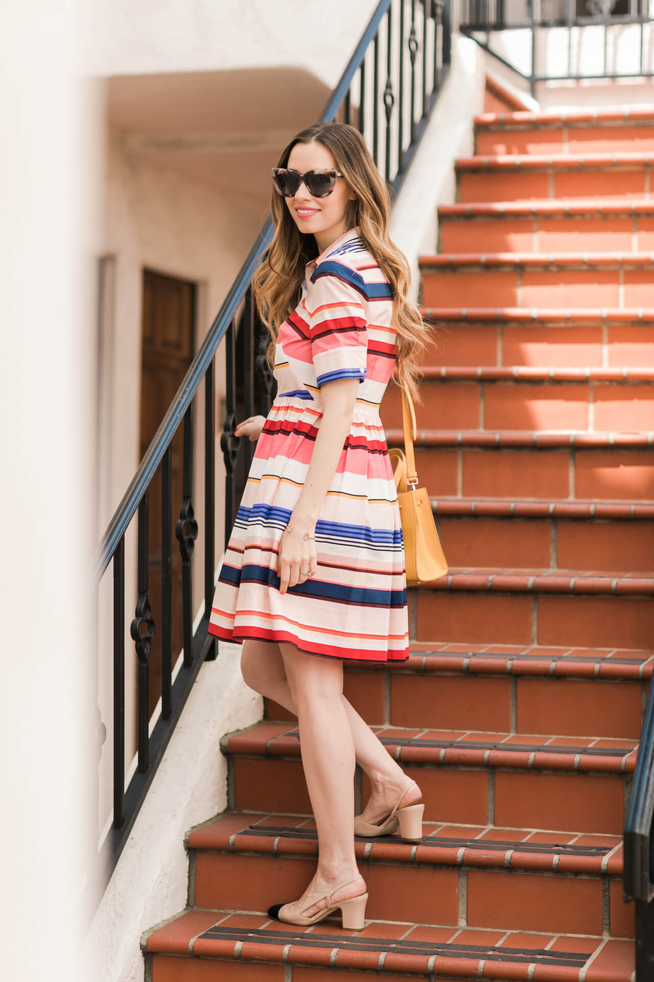 a fun colorful striped shirtdress for spring  - kate spade berber striped shirtdress