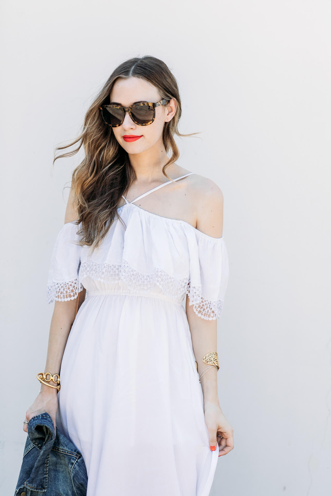 halter and off the shoulder dress combo that will look chic and stylish