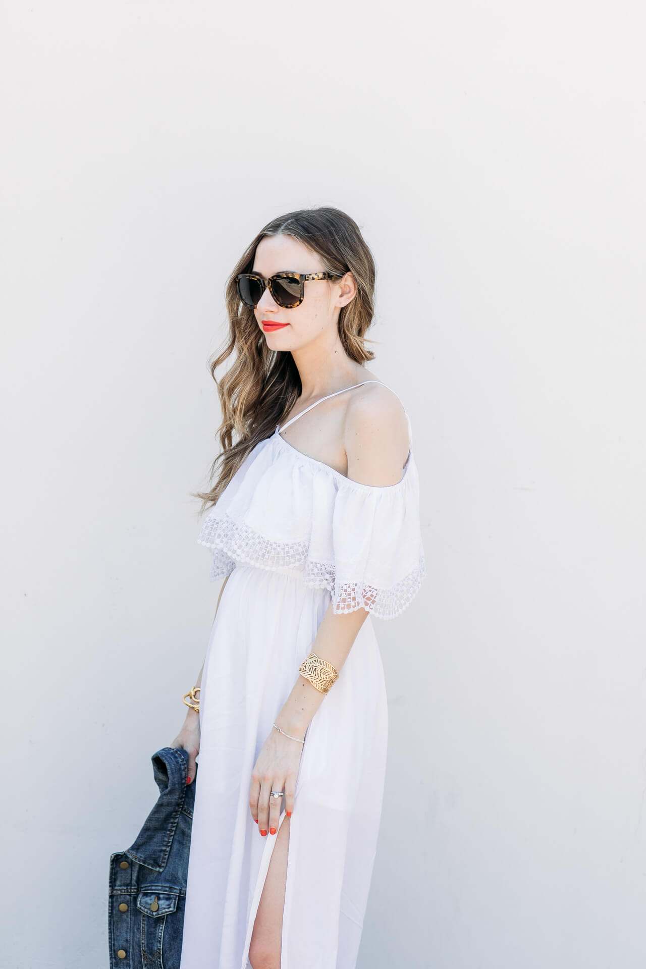 Dressing up or down for the fourth of July with red lip pop - M Loves M @marmar