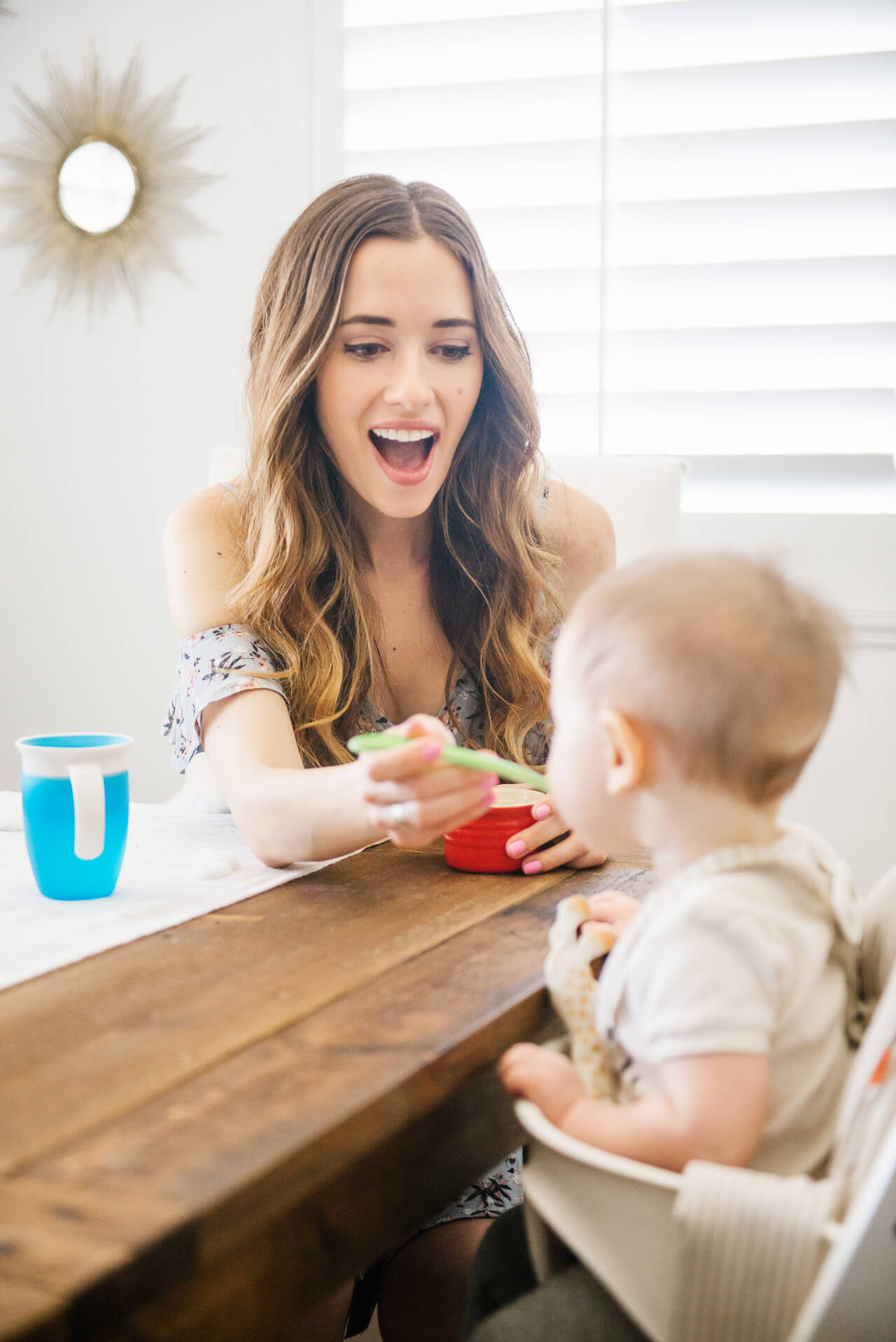 Feeding baby solids for the first time - M Loves M @marmar