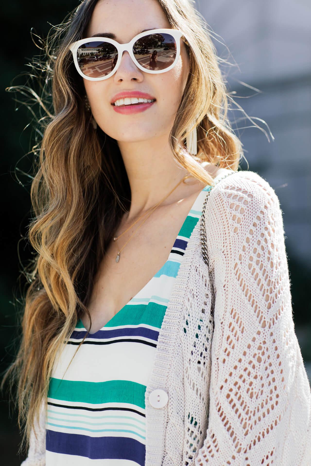styling white sunglasses for summer - M Loves M @marmar