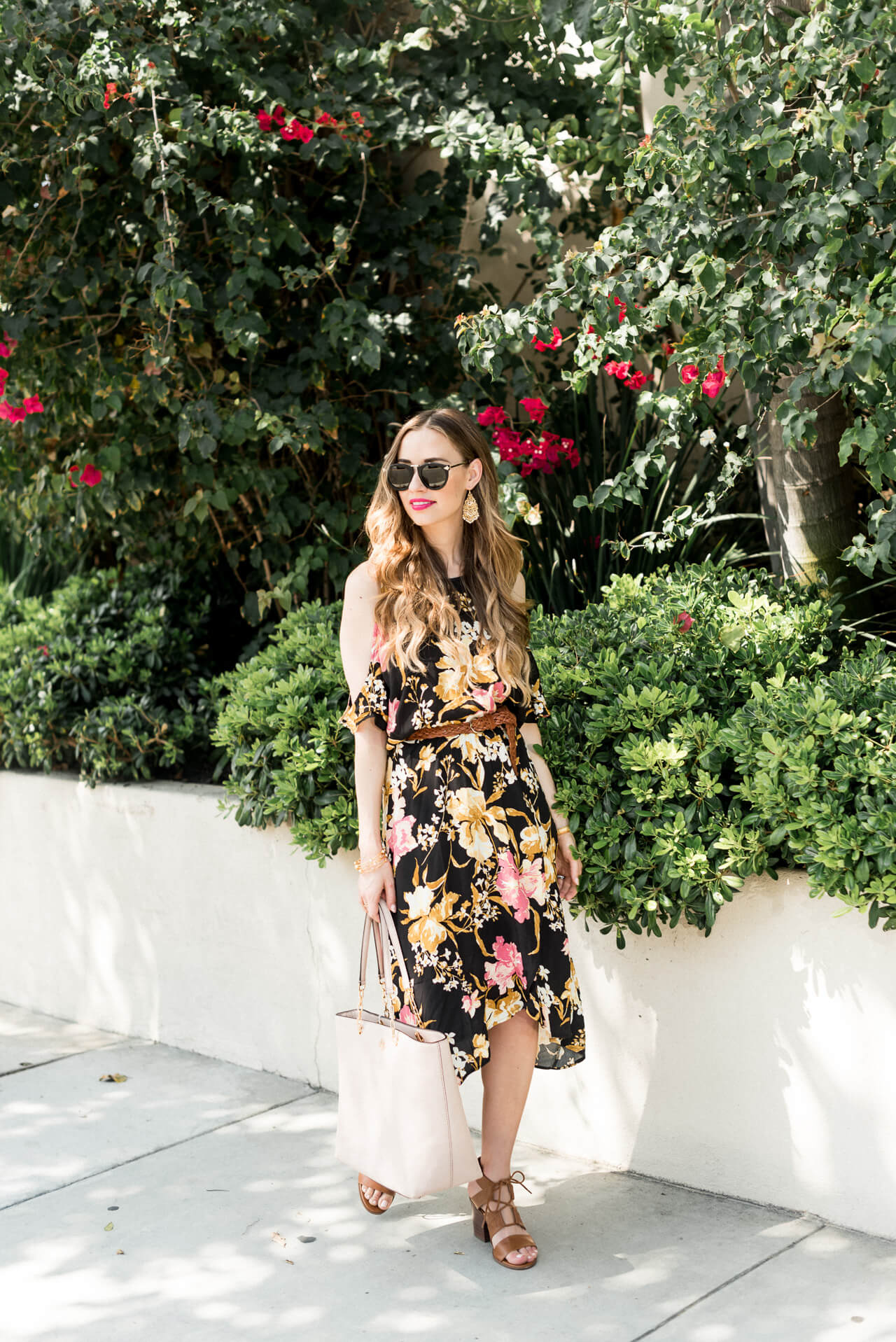 a dark floral dress to wear during summer or fall - M Loves M @marmar