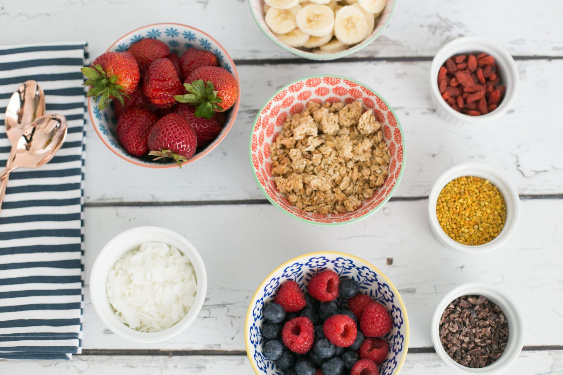 DIY acai bowl toppings