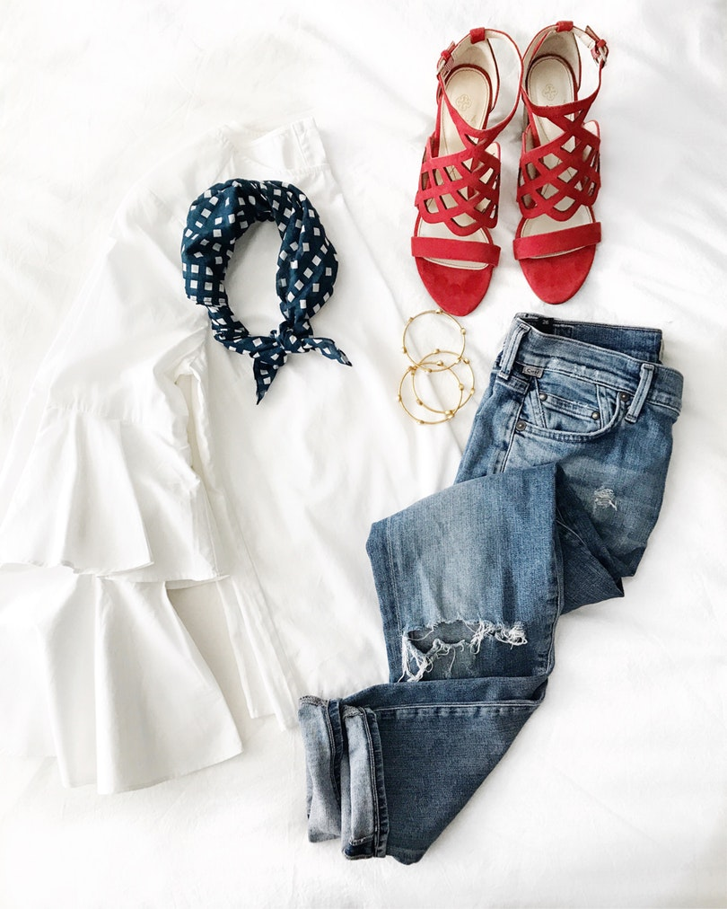 Summer style always includes some red, white, & blue- preferably together