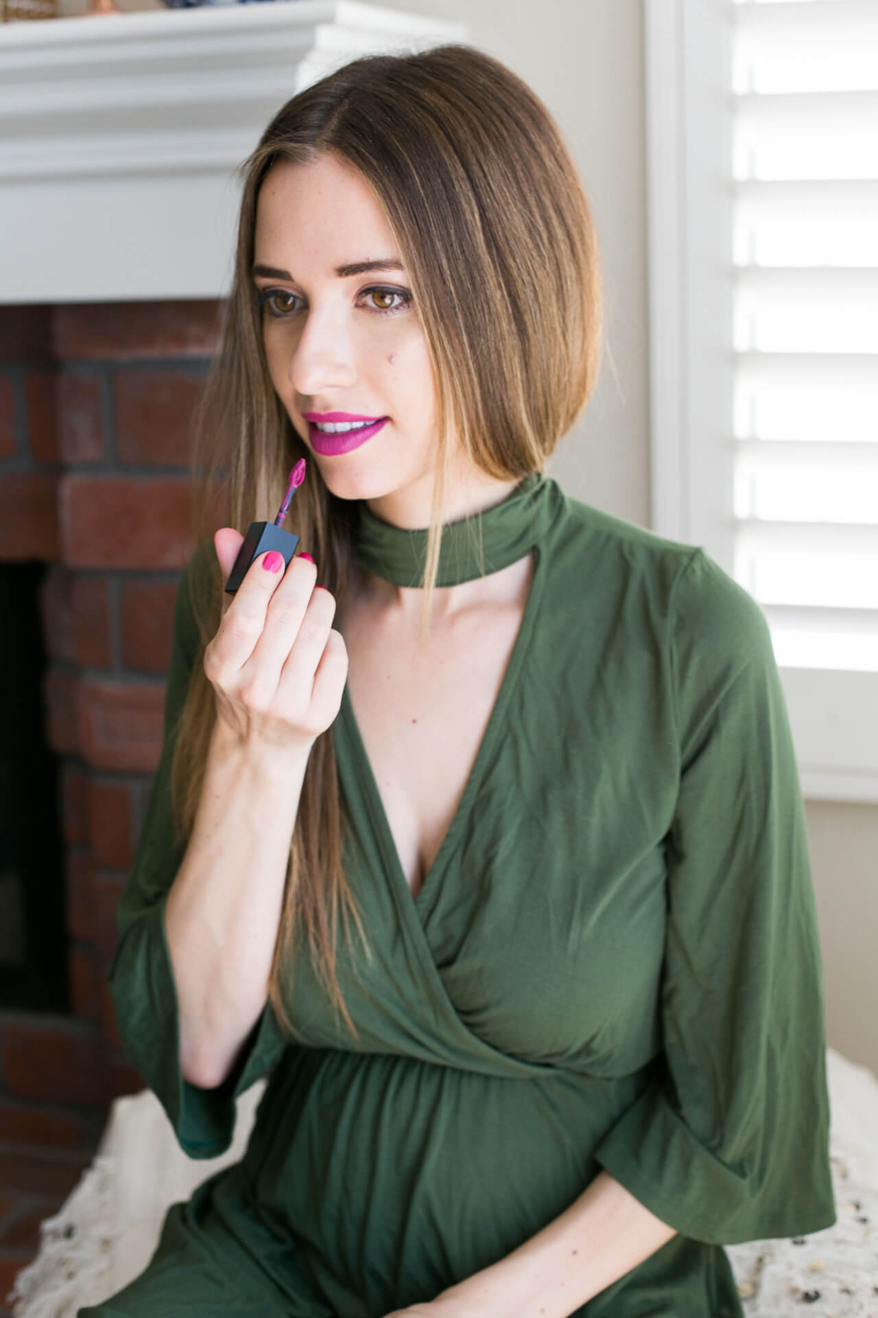 Love this bright purple lipstick by Smashbox in Let's Dance - M Loves M @marmar