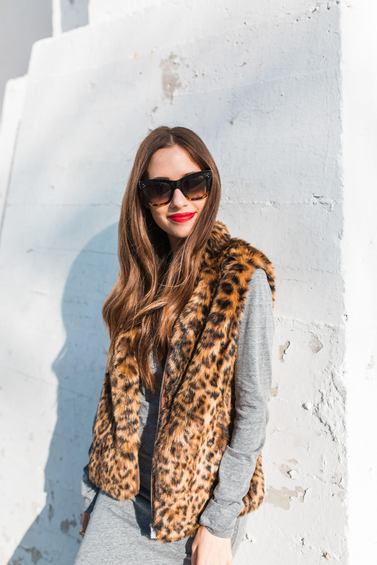 Gorgeous red lip for the perfect fall look