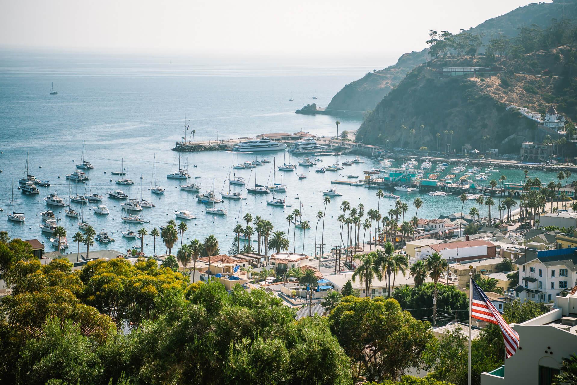 beautiful Catalina Island in California