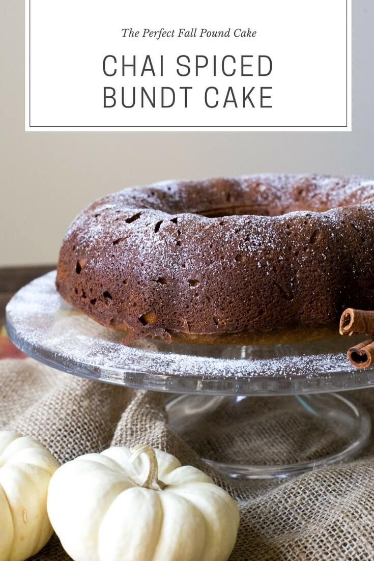 a delicious chai spiced pound cake for Fall - M Loves M @marmar