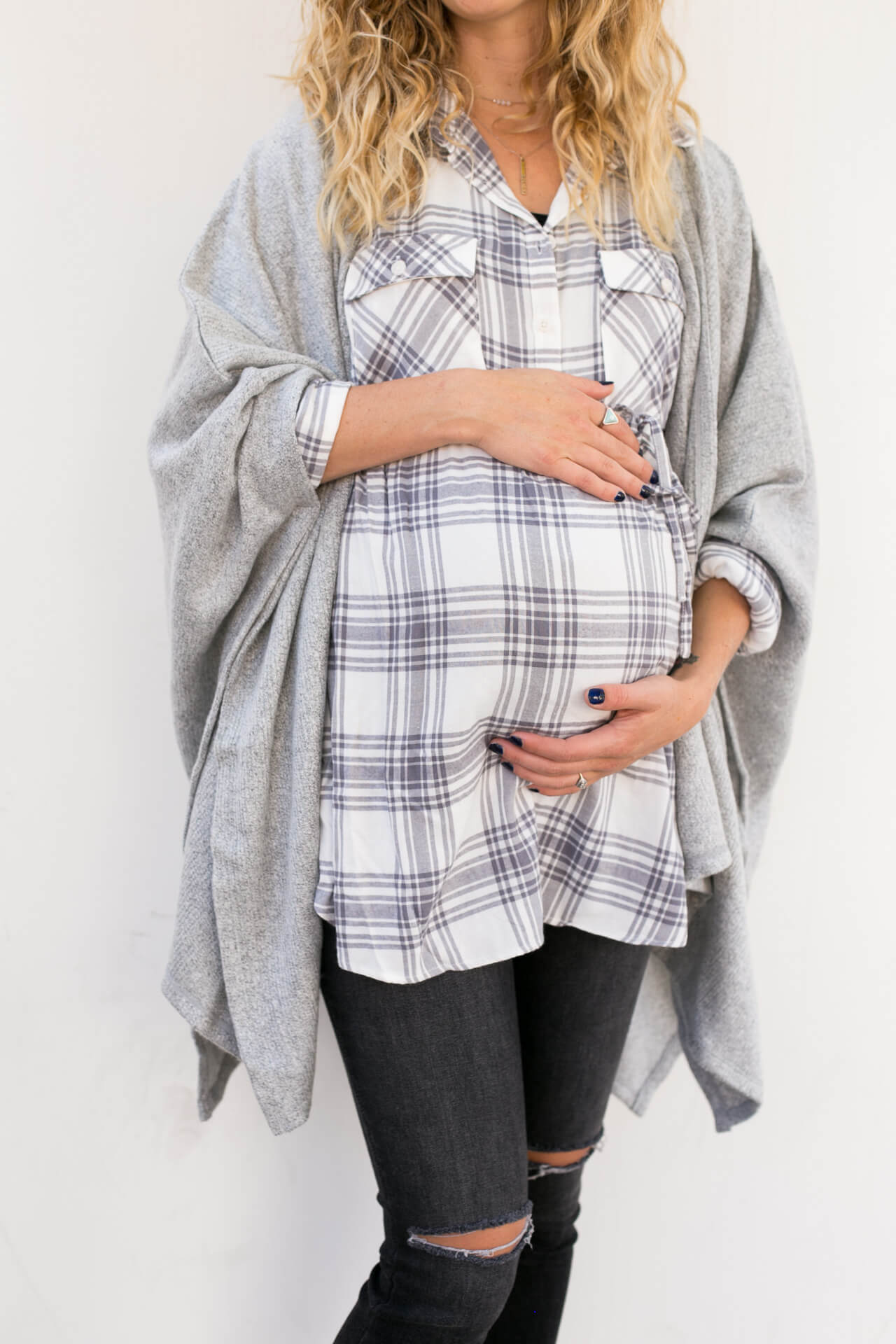 ingrid and isabel maternity line, super cute fall maternity outfit