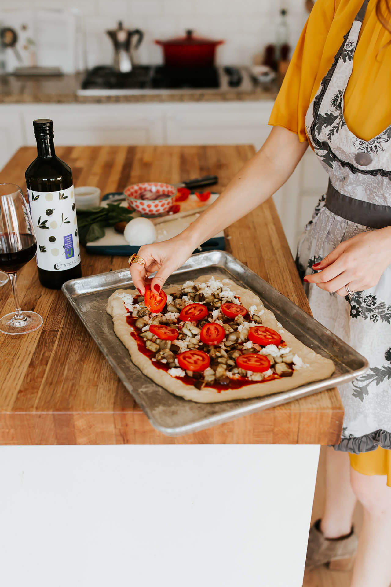preparing our go-to pizza for a date night at home - M Loves M @marmar