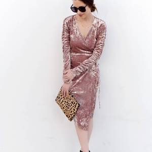 A pink dress for Fall now up on M Loves M