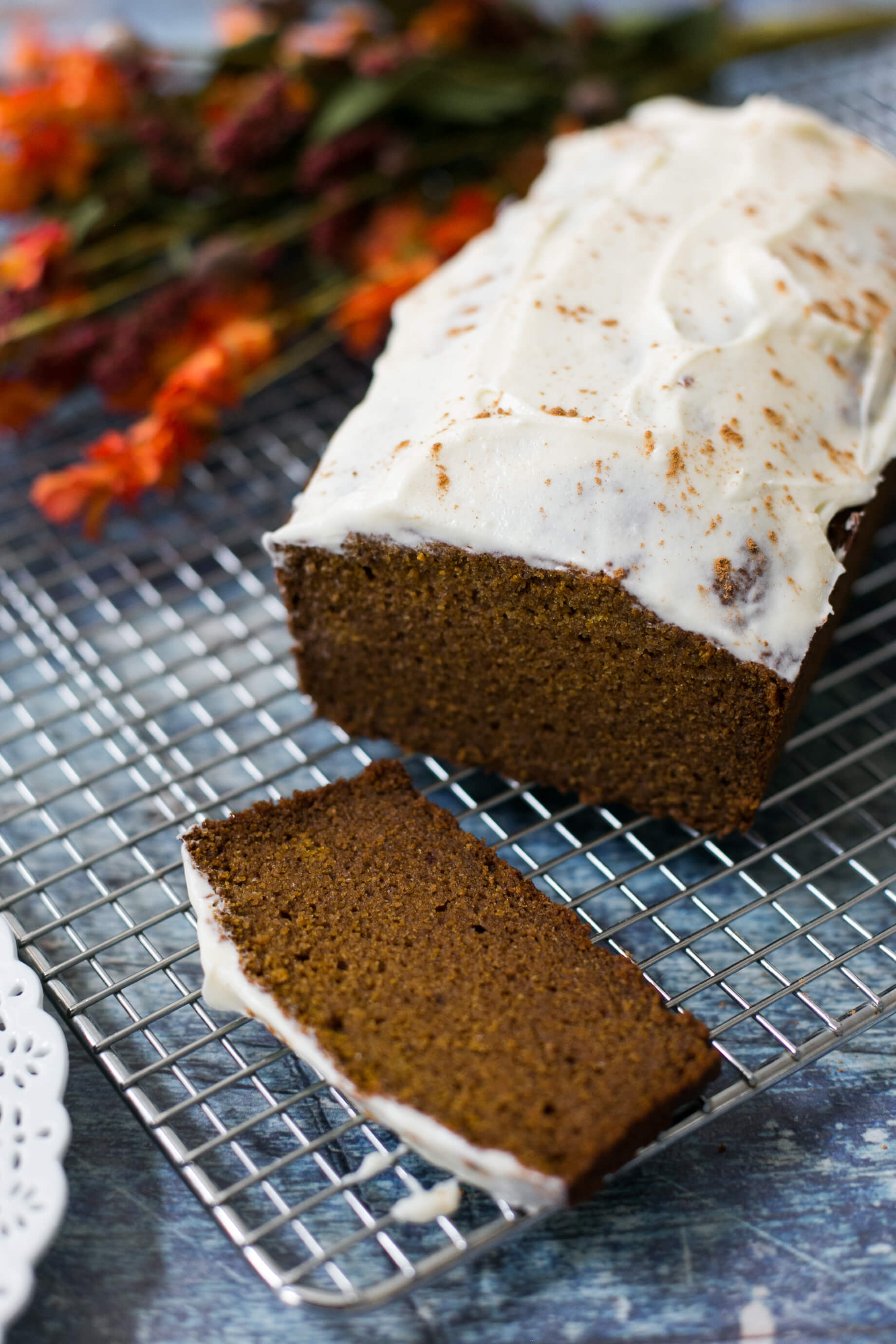 a pumpkin spice latte bread recipe with cream cheese glaze - M Loves M @marmar