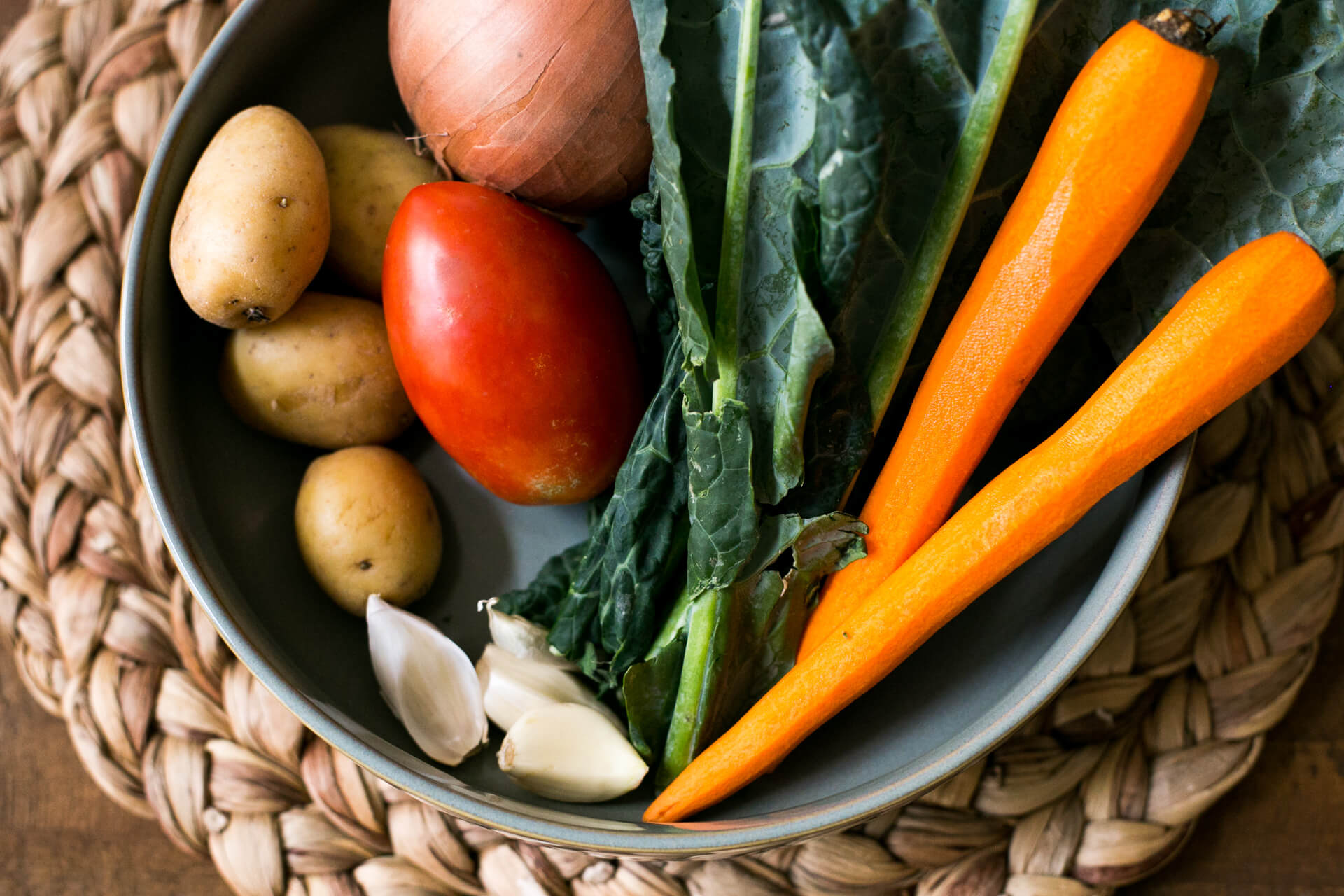 a beautiful assortment of raw veggies