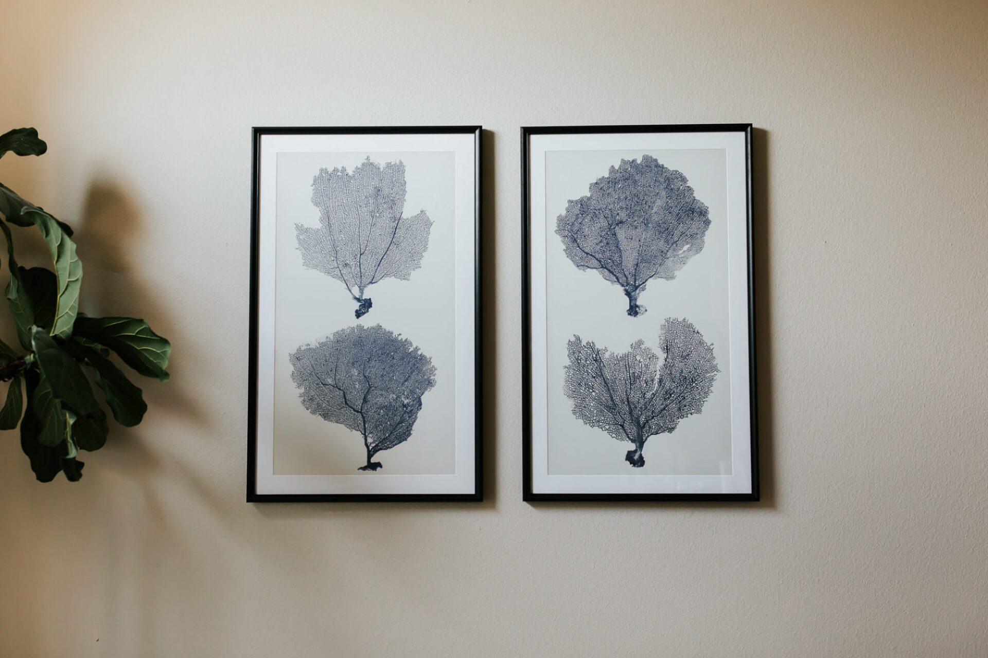 love these sea fan art from Framer's Pointe