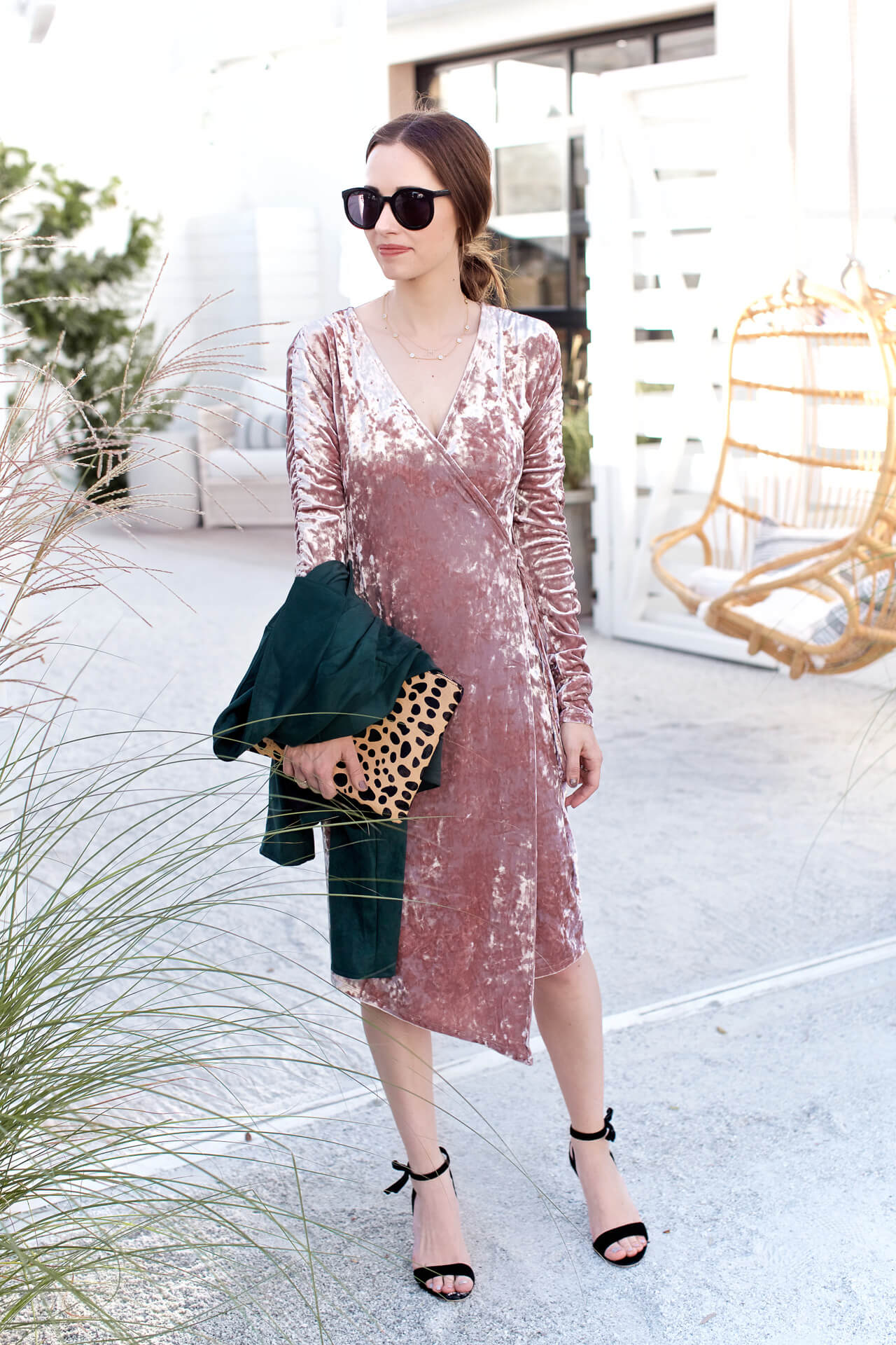 Found this pink velvet dress just in time for the holidays - M Loves M @marmar