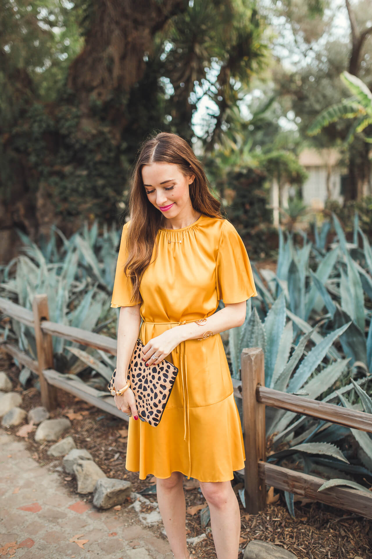 the prettiest mustard dress that you could wear year round - M Loves M @marmar