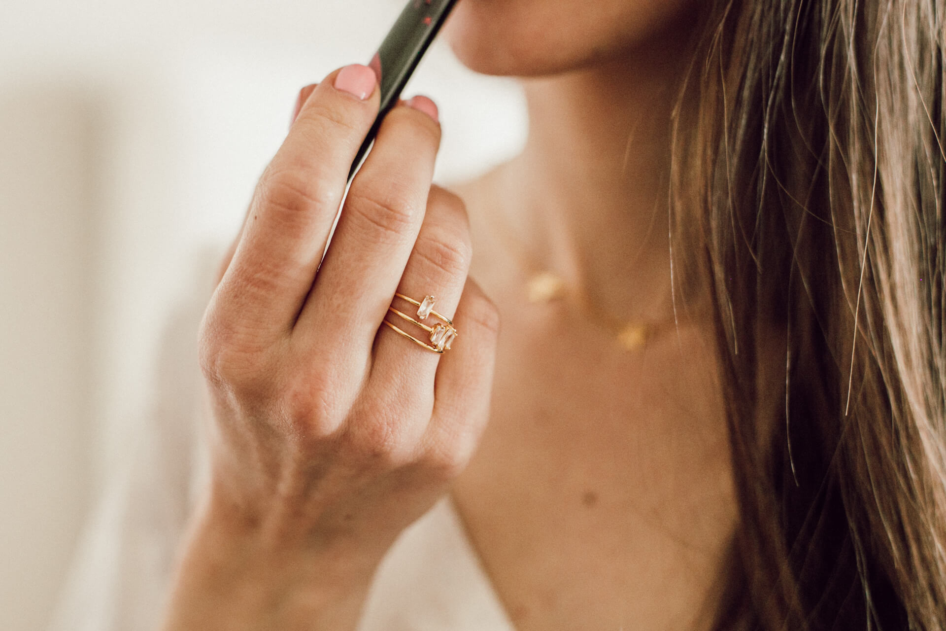 love this simple ring set by Gorjana