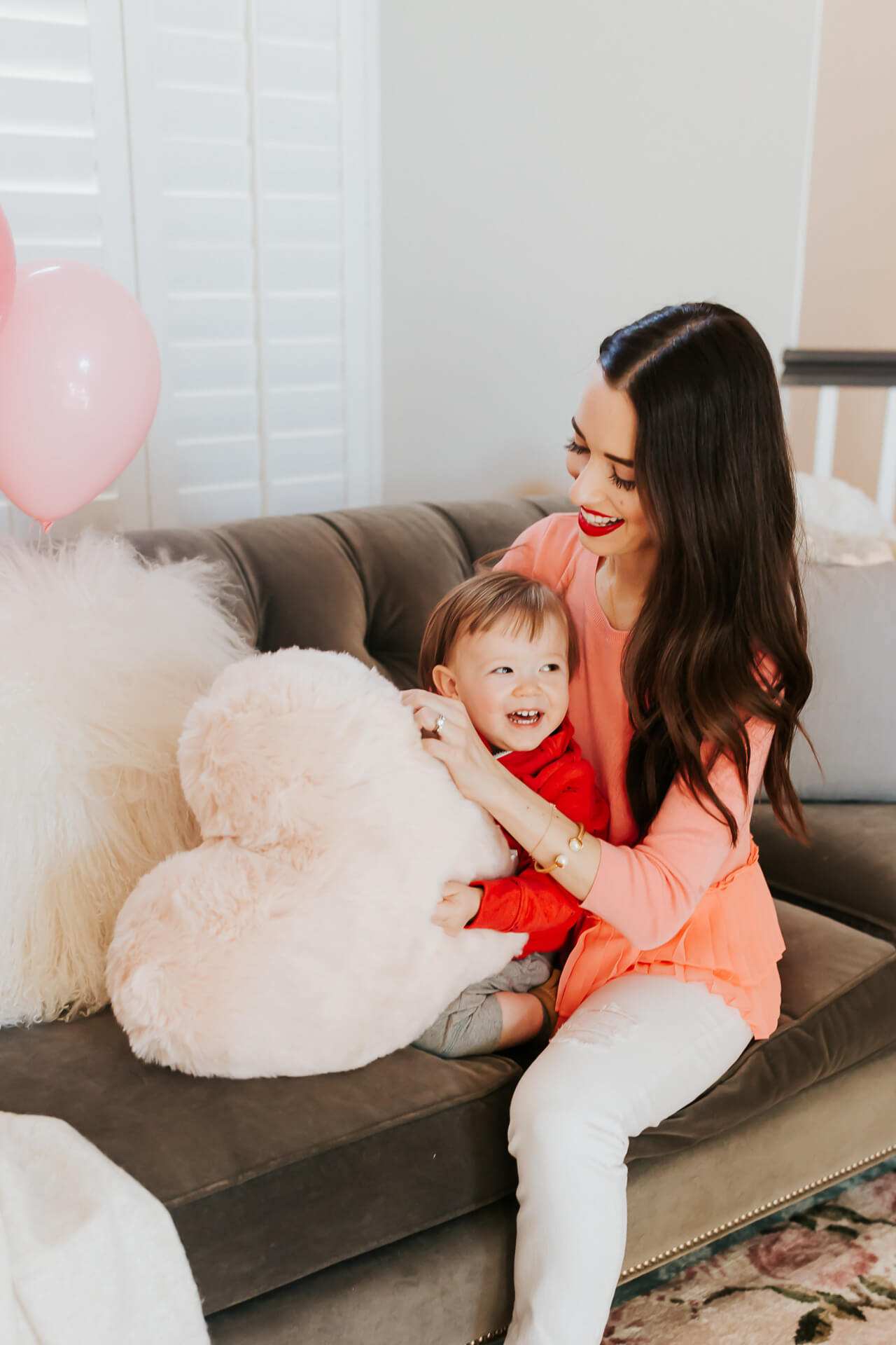 cute mother and son Valentine's Day home shoot - M Loves M mommy blogger
