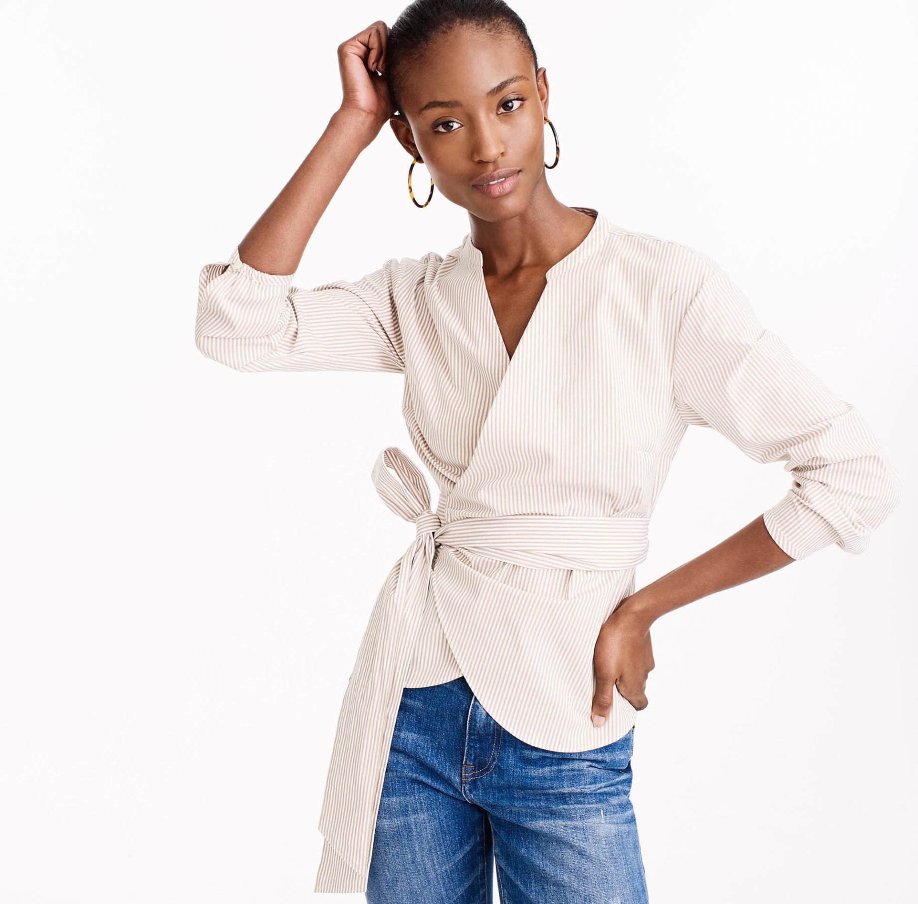 cute wrap top for spring