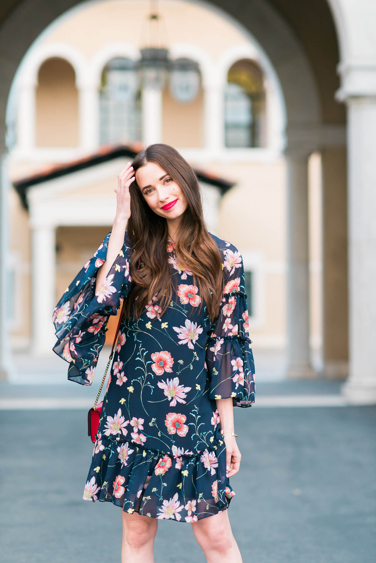 flowy bell sleeve floral dress from Nordstrom -  M Loves M @marmar