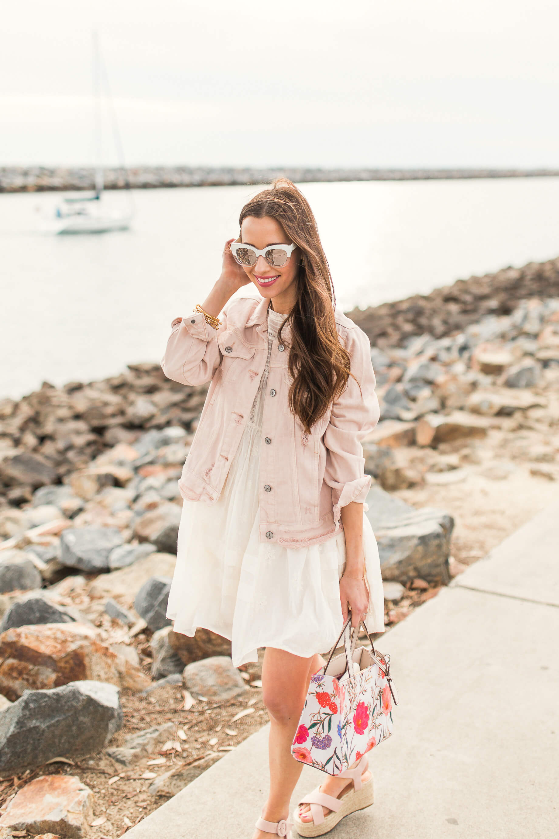 the cutest colored denim jacket for spring