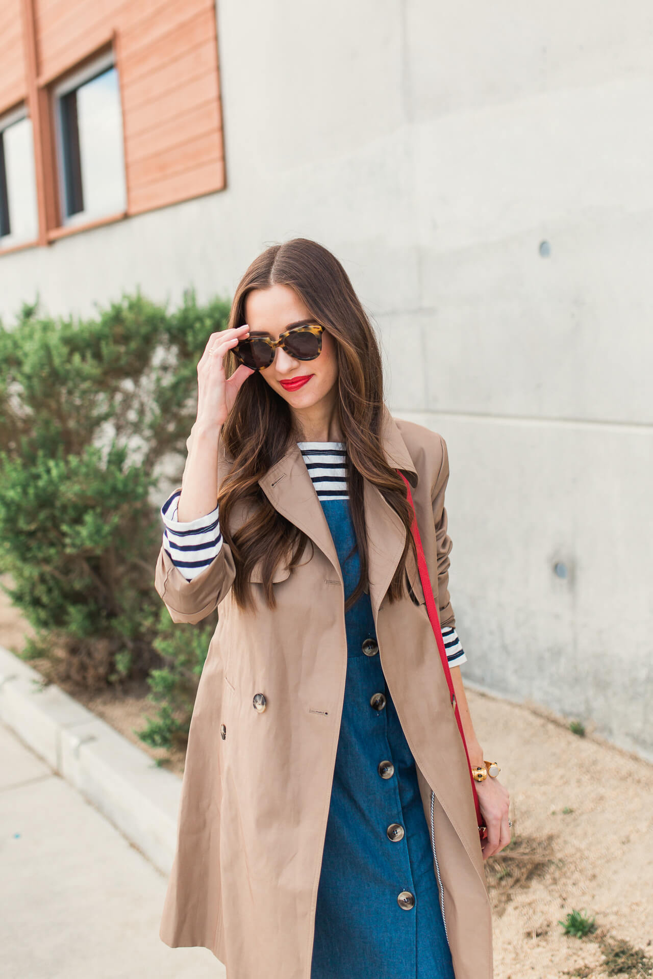 cute rainy day outfit inspiration from M Loves M Los Angeles Orange County feminine fashion blogger @marmar