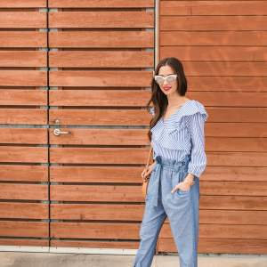 a blue pants look for spring - M Loves M @marmar