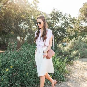 How to pair a button-down shirt with a skirt! | M Loves M @marmar