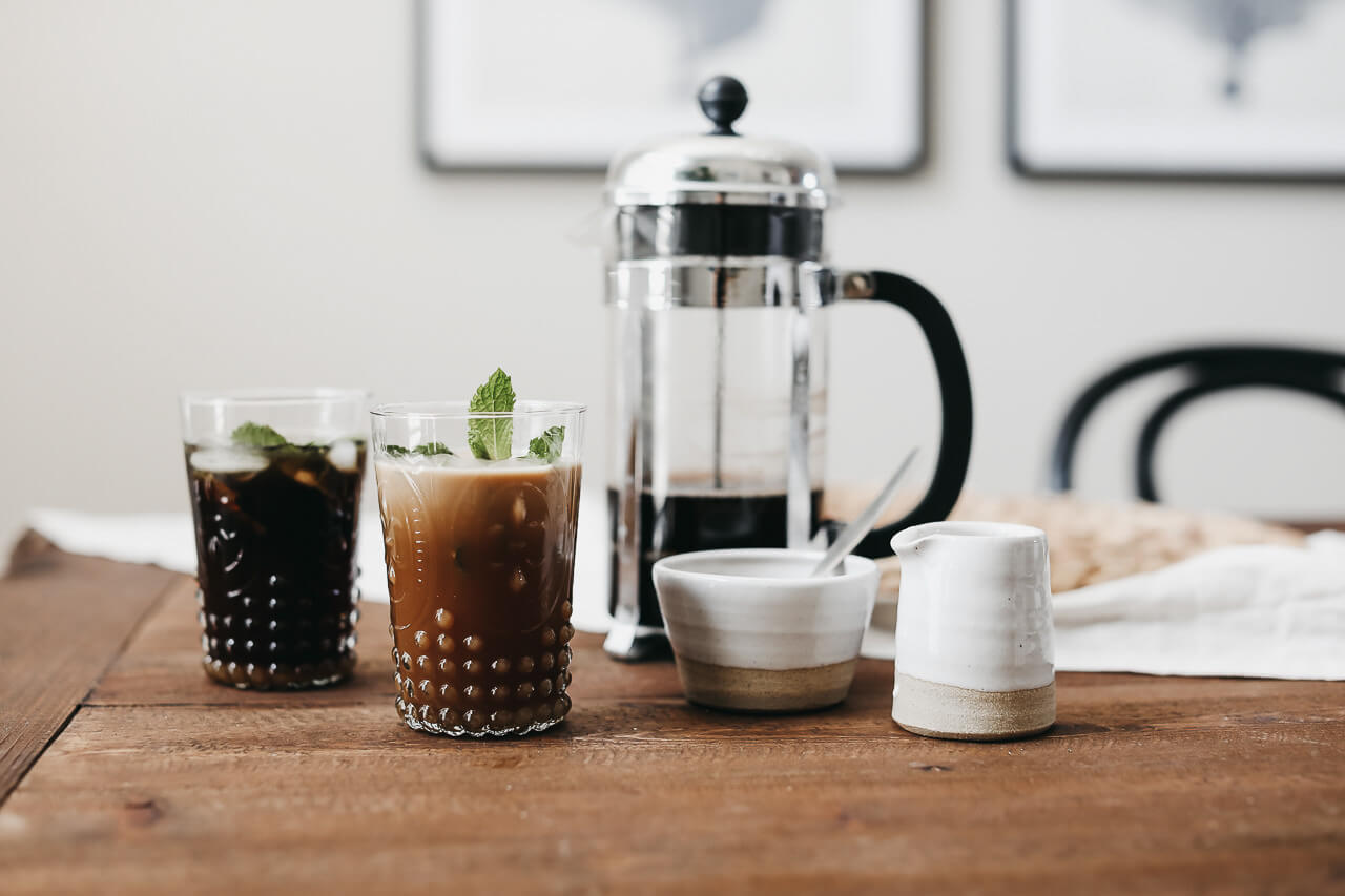 The perfect French Press iced coffee recipe. | M Loves M @marmar