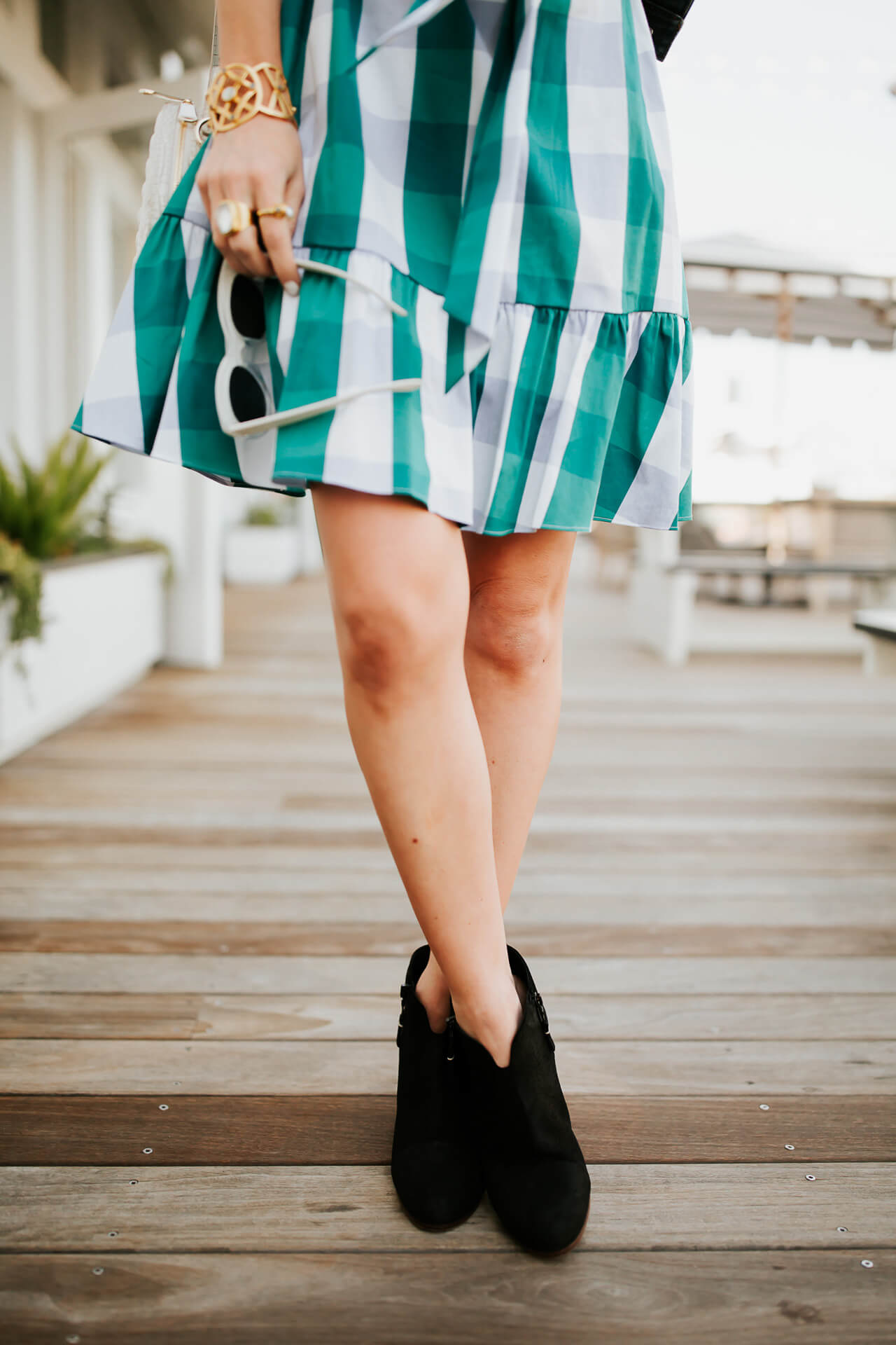 I can't wait to wear this gingham dress to all my summer events! | M Loves M @marmar