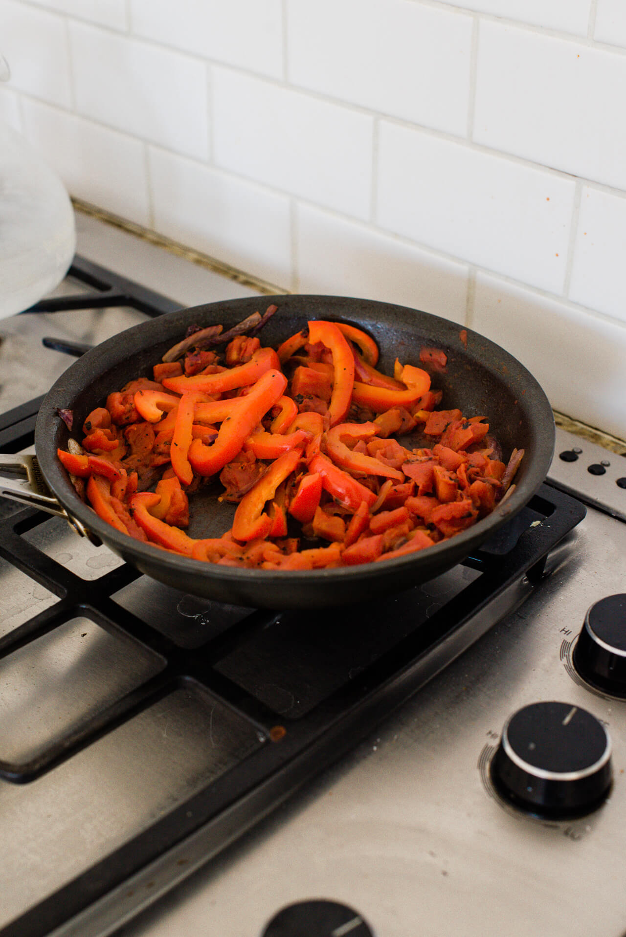 These vegetarian fajitas are so easy to make and are family friendly!