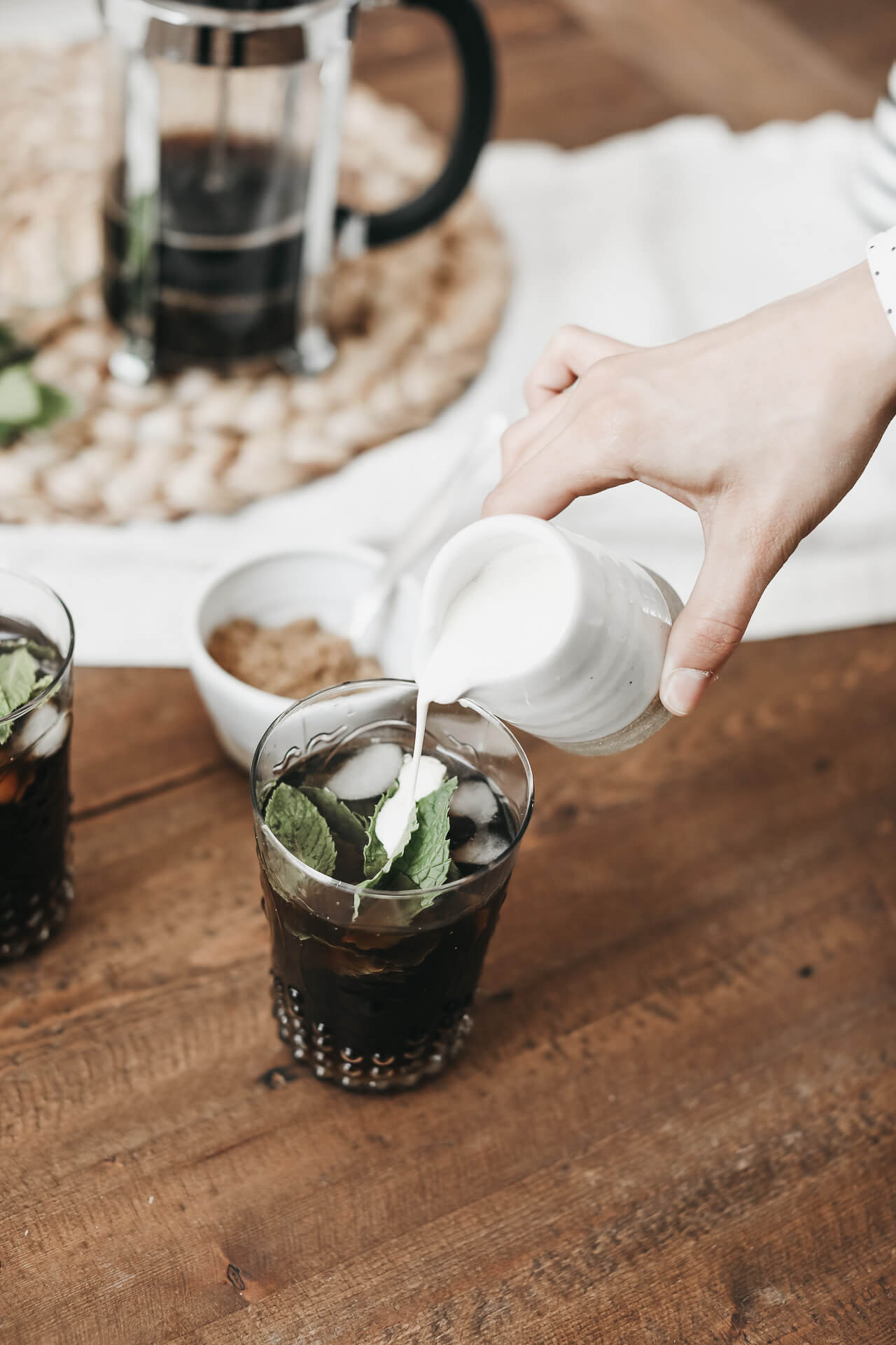 This Philz Coffee inspired mint mojito iced coffee recipe is a summer must have. | M Loves M @marmar